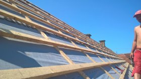 Roofing works