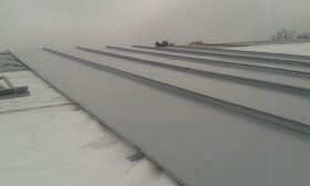 Metal seam roofing