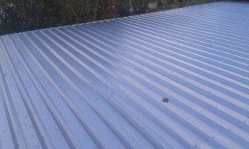 Trapezoidal steel sheet